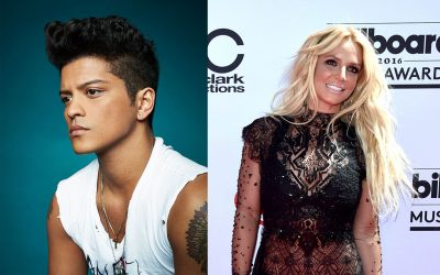 Britney Spears and Bruno Mars Give Back