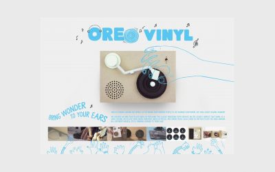 There's an Oreo Cookie that doubles as a Vinyl Record