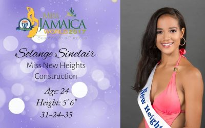 Solange Sinclair is Miss Jamaica World 2017
